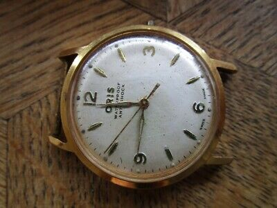 Vintage Gold plated ORIS Manual Watch. Cal. 392 KIF. For parts