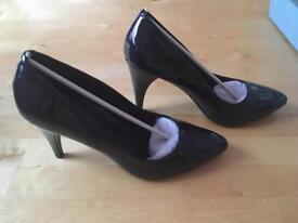M and S navy court shoes size 7