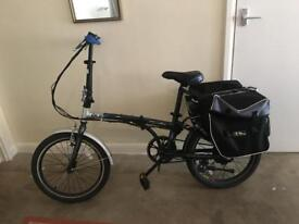 ELIFE FREEDOM ELECTRIC FOLDING BIKE WITH M-WAVE BICYCLE BAG + ACCESSORIES