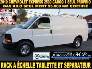2010 Chevrolet Express 2500 CARGO 95.000 KM RACK TABLETTE 1 SEUL