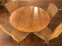 Wooden table with 4 chairs good as new