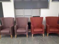 High back memory foam chairs