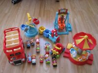 HappyLand funfair and London Bus and figures