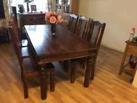 Sheesham Solid Wood 7 Piece Dining Set