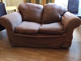 2 Seat sofa + pouffe