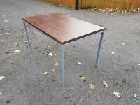 Walnut Veneer Dining Table 130cm FREE DELIVERY 316