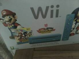 Wii limited edition Olympic console blue with games