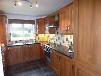 Used kitchen - units, oven, gas hob, fridge/freezer, washing machine/dryer, sink, tap, extractor fan