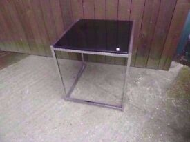 Coffee Table with Black Glass Chrome Frame Top Delivery Available £10