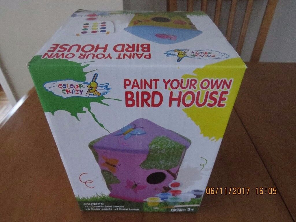 Paint your Own Bird House - NEW