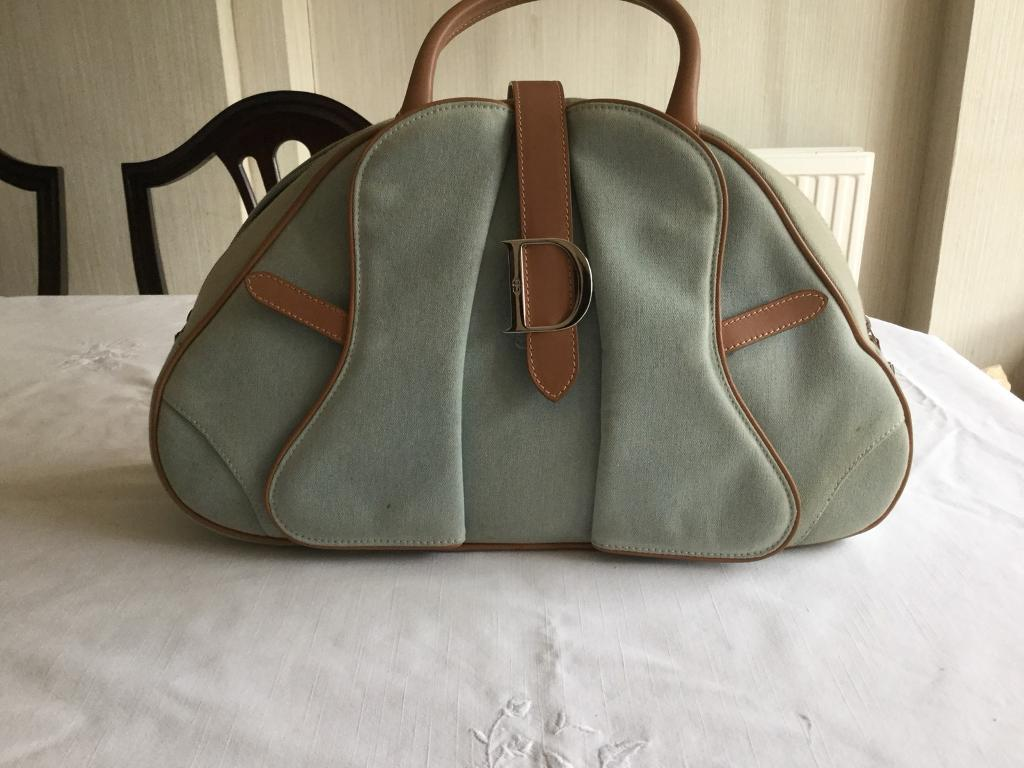 "915e4f896b04 Christian Dior ""  Saddle Bowling "" Bag"