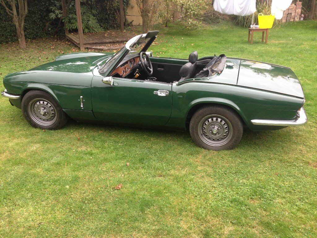 triumph spitfire 1500 very solid car in british racing green 1978 in bedford bedfordshire. Black Bedroom Furniture Sets. Home Design Ideas