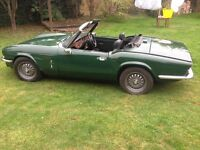 Triumph Spitfire 1500 very solid car in British racing green 1978