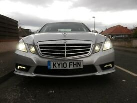 mercedes E250 sport cdi silver 10 plate low miles 60 000 £8500