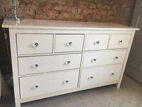 Ikea White Hemnes Chest of 8 Drawers