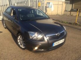 Toyota avensis, 2008, petrol, automatic, sat nav, leather seats, HPI clear, full Toyota S/H,