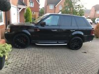 "Range Rover sport 22""alloys exclusives design all black in and out excellent condition full mot"