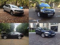 PCO car Hire Rent, from £100, Uber Approved Ready, Passat's, Mondeo's, Zafira, Insignia, Seat