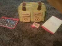 Mama et Bebe pink lining changing bag