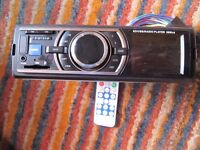 Carsio Stereo with loom , remote Control and removing bars SD/Aux/Usb Radio