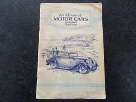 An Album Of Motor Cars, second series. Cigarette cards.