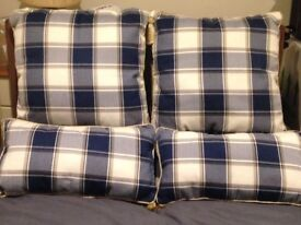 Two sets of Tartan cushions (as new)