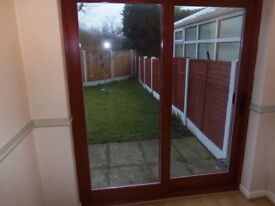 Bespoke Solid Wood Mahogany Patio Sliding Door