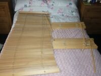 3 Ikea wooden Blinds in good condition