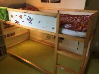 Ikea Kura mid sleeper cabin bed with tent