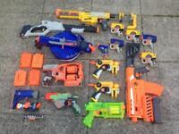 Bundle/job lot of nerf guns & ammunition