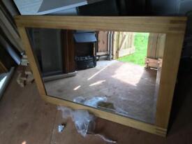 Solid wood oak mirror SOLD