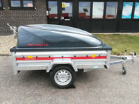 NEW Car Trailer TEMARED PRO 2012 6,7ft x 4ft / 205cm x 125cm 750kg ABS LID