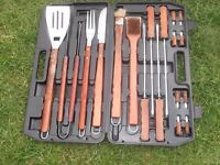Stainless Steel BBQ Set - For the Serious Barbecuist.