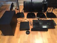 Sony Home Cinema Bluray and Multiregion DVD with rear wireless speakers
