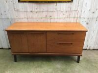 Small solid teak retro mid century Sideboard