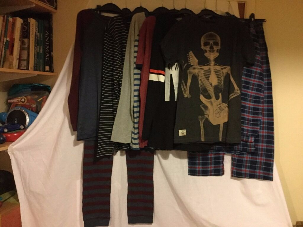 Assorted, never worn , teenage boy's clothes. Unwanted gifts. Just been in the wardrobe!!