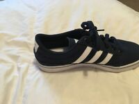 Navy Adidas trainers