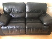 Leather recliner sofa and armchair for sale £250 collection only