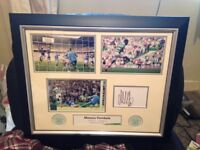 Moussa Dembele ( Celtic ) signed limited edition ( No1 of 100 ) Hat trick Print