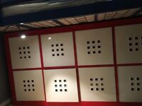 IKEA Storage Unit with 8 Storage Cubes