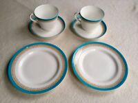 Beautiful Vintage 'Royal Worcester'/ 'Temple & Crook' Breakfast Set c.1912 (+ Free Sugar Bowl)