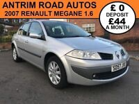 2007 RENAULT MEGANE 1.6 VVT ** AUTOMATIC ** SERVICE HISTORY ** FINANCE AVAILABLE WITH NO DEPOSIT