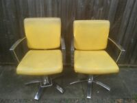 2 X BARBERS CHAIRS (USED) VERY GOOD CONDITION COLLECTION ONLY