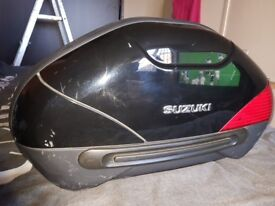 Original Panniers for Suzuki dl 1000 vstrom off 2007 model few marks but still solid and water tight