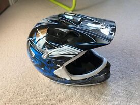 Kids Youth L 51-52 cm THH Blue Helmet Motocross - as new condition.