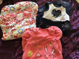 Baby girl sleeping bags 0/6 months