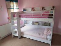 Julien bowman bunk beds white with Shelves £200