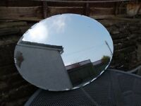 Shabby Chic Vintage Oval Mirror