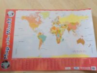 Large Plastic Map of the World - Lists Countries & their Capital Cities - Great Educational Aid