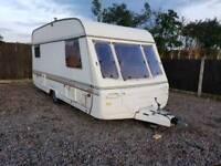 Swift challenger 450/5 se 5 berth touring caravan cassette toilet awning